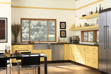 Kitchen with Large Window