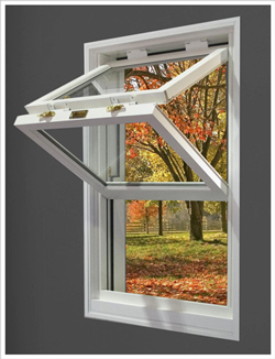 White Folding Window