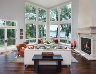Large Corner Windows White