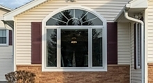 Casement-Picture-Casement with Arch Top transom